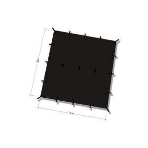 DD Hammocks Tarp 3x3 - Jet Black