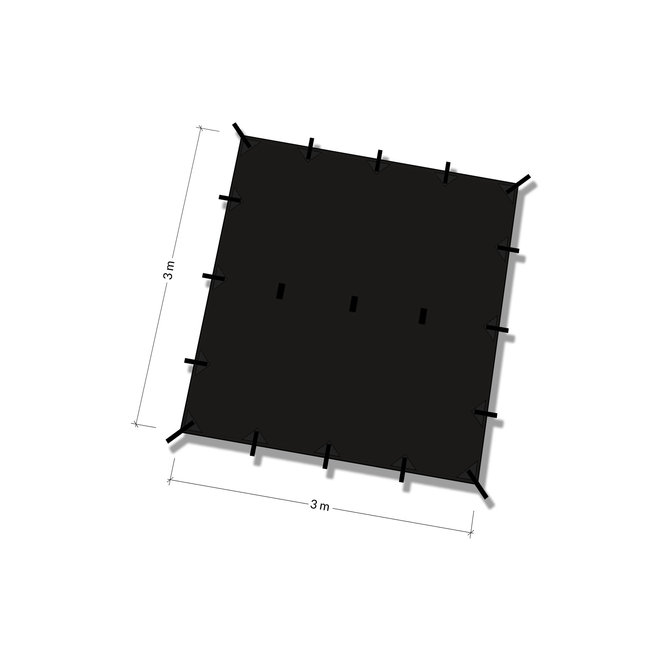 Tarp 3x3 - Jet Black