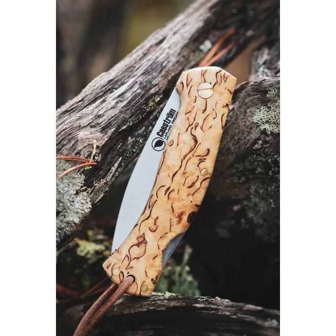 Lars Fält Folding Knife - Böhler N690 - Curly Birch