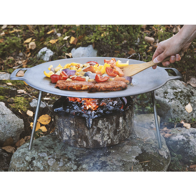 Griddle Pan - Grillplaat met Pootjes - 58 cm