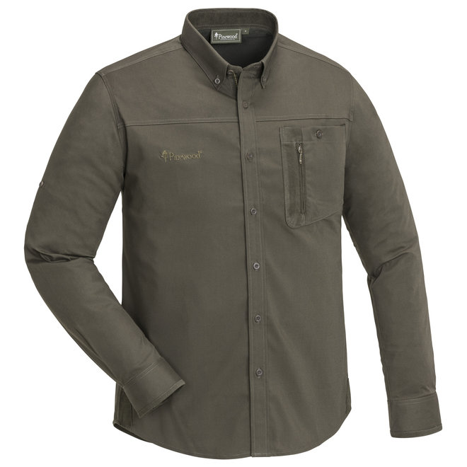 Tiveden Insect-Stop Shirt - Dark Olive / Suede Brown (5016)