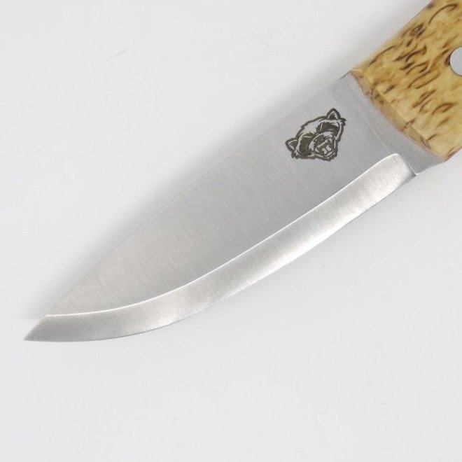 Wolverine Puukko - Curly Birch - Full cover multy carry sheat