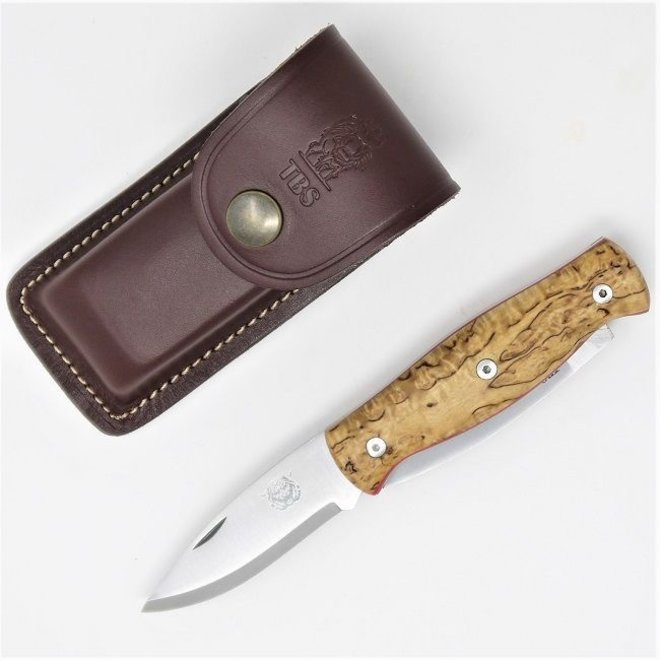 Wildcat Pocket Knife & pouch - Curly Birch