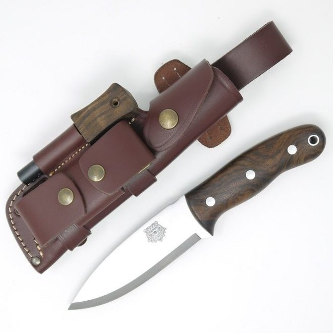 Grizzly Bushcraft Knife DC4 / Firesteel Edition - Turkish Walnut  - Incl. schede