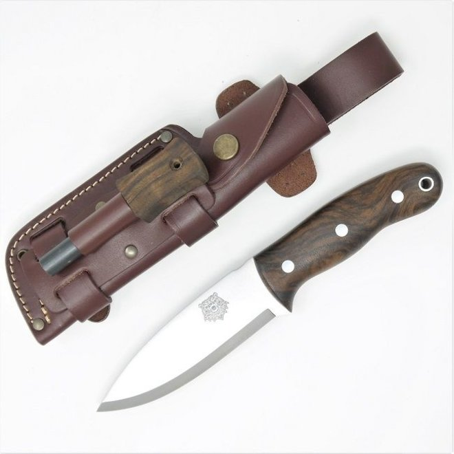 Grizzly Bushcraft Knife Firesteel Edition - Turkish Walnut  - Incl. schede