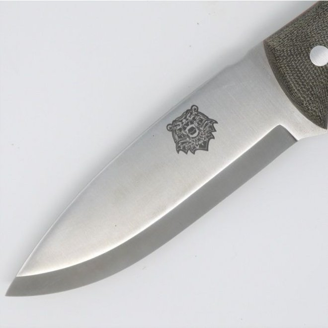 Grizzly Bushcraft Knife DC4 / Firesteel Edition - Military Model  - Incl. schede