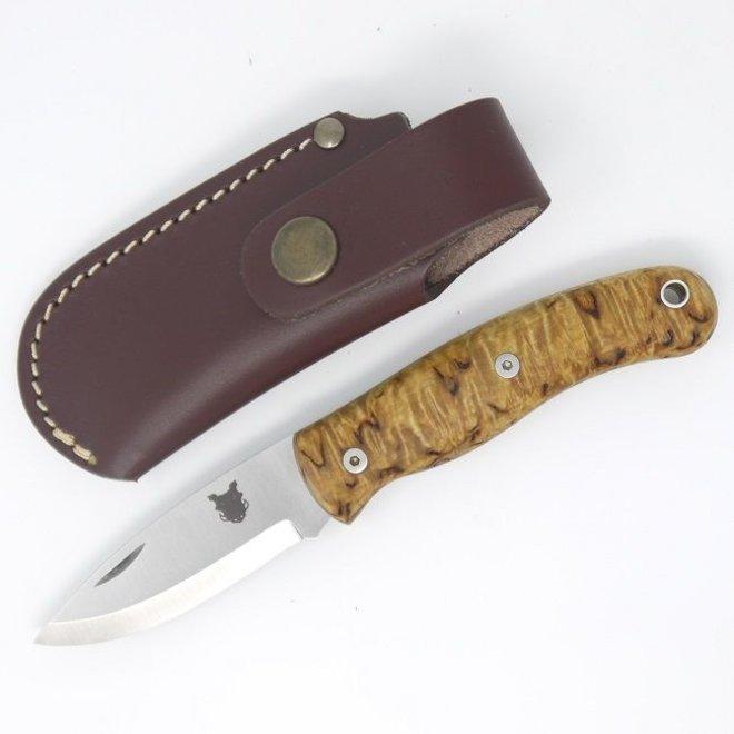 Boar Folding Pocket EDC Knife Curly Birch - Incl. Schede