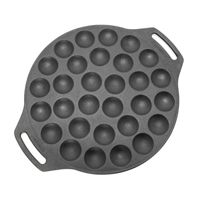 Poff30-Gietijzeren Poffertjes Pan - XL