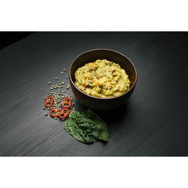 -CousCous met Linzen en spinazie