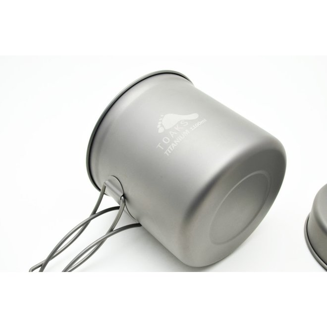 Titanium 1100ml Pan - Multifunctioneel deksel