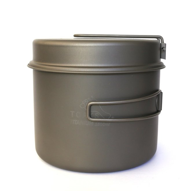 Titanium 1600ml Pan - Multifunctioneel Deksel
