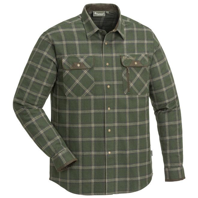 Prestwick Exclusive Shirt - Mossgreen / Dark Brown (9428)