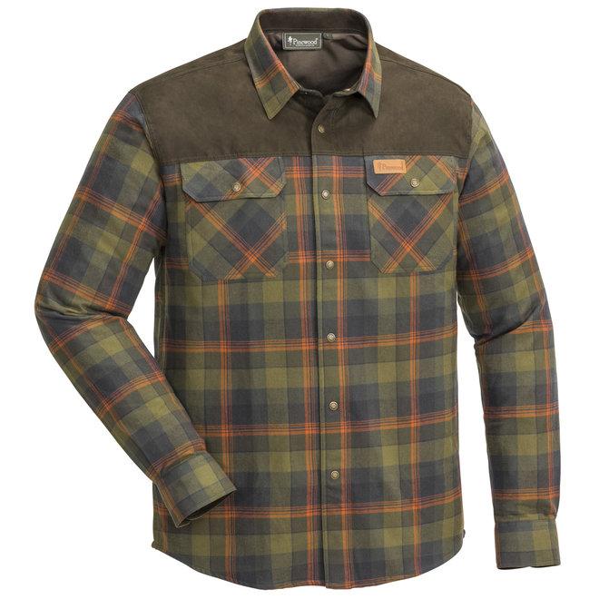 Douglas Shirt - H.Olive / Terracotta (9436)
