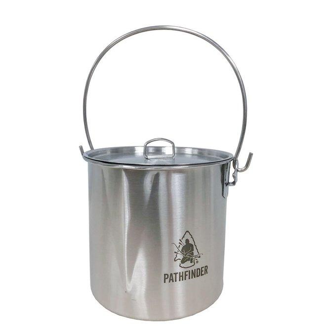 RVS Bushpot met deksel (1,9 L)