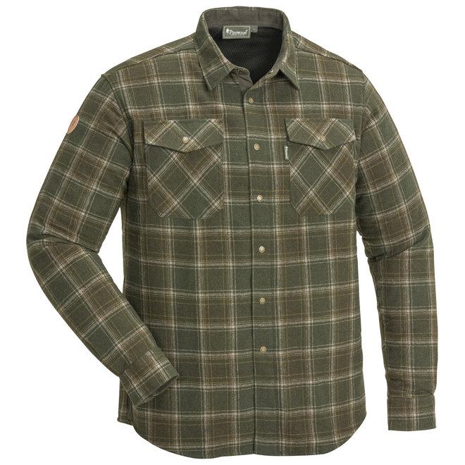 Edmonton Exclusive Shirt - Mossgreen / Suede Brown (5532)