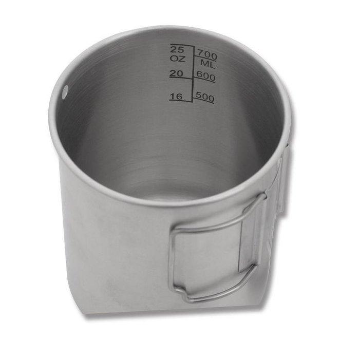 RVS Drinkbeker 0,75 L met deksel