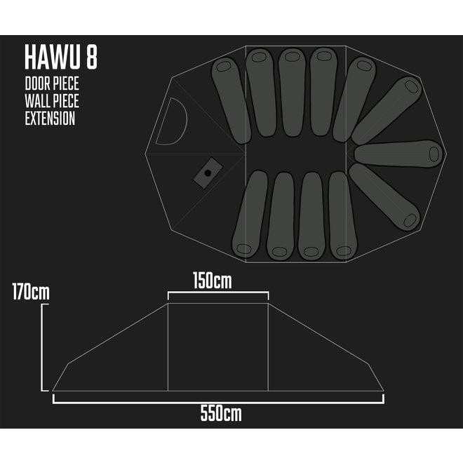Camp Tent-HAWU 8-Door Piece/Deur Deel