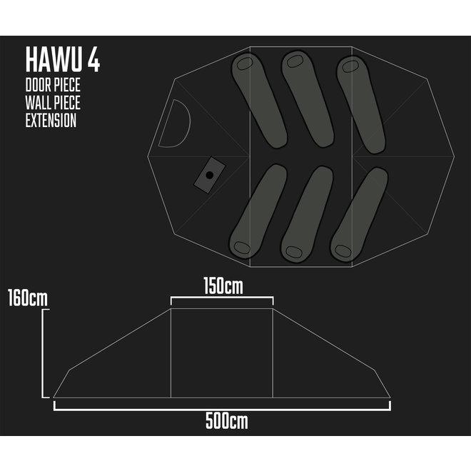 Camp Tent-HAWU 4-Extension Piece/Tussen Deel