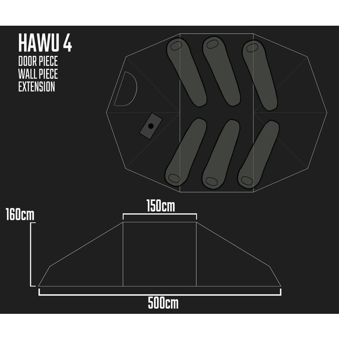 Camp Tent-HAWU 4-BASIS EXTENTED