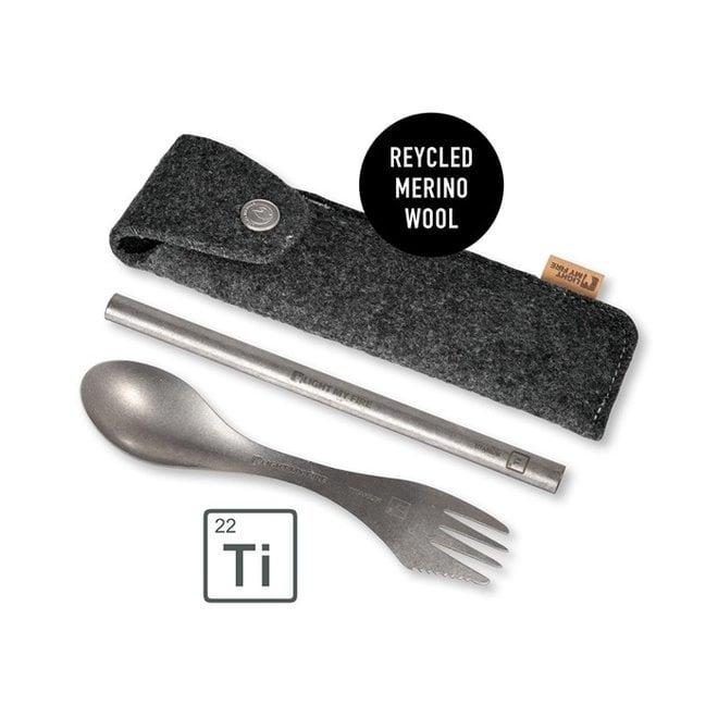 Eco Spork'n Straw Titanium Kit