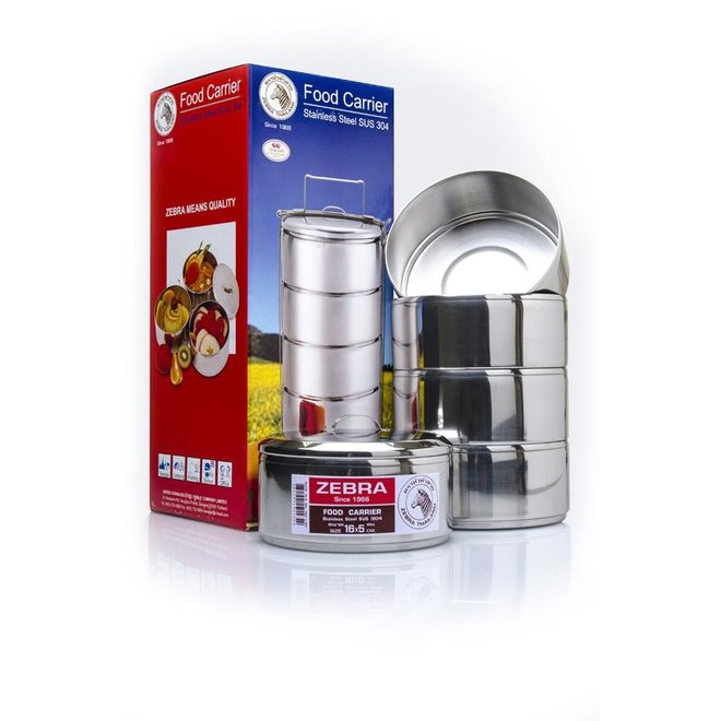 Stainless Steel-Food Carrier 16cm x 5 layers