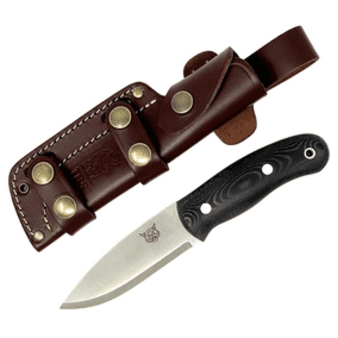 Lynx Bushcraft knife-Black Micarta