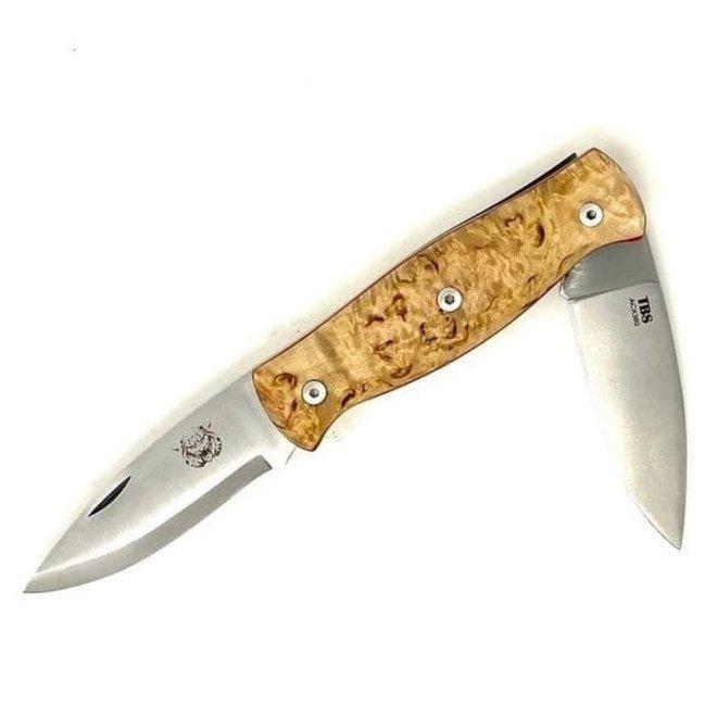 Wildcat Pocket Knife - Curly Birch