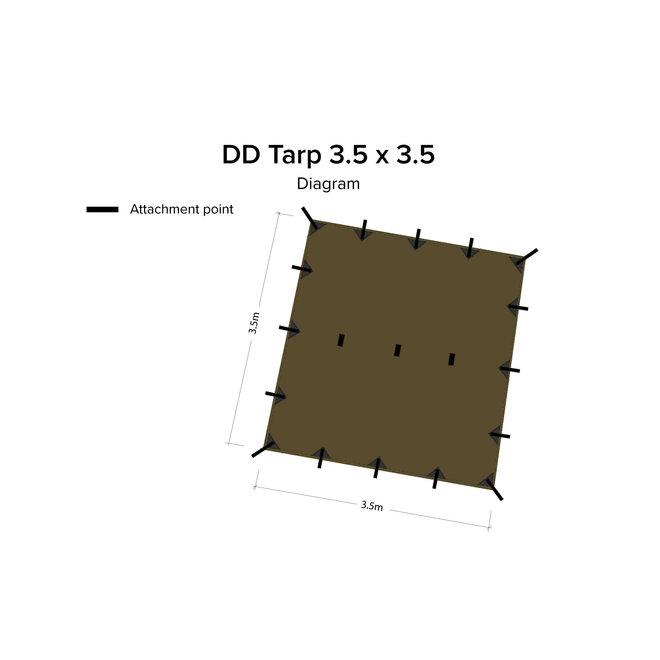 Tarp 3,5x3,5 Coyote Brown