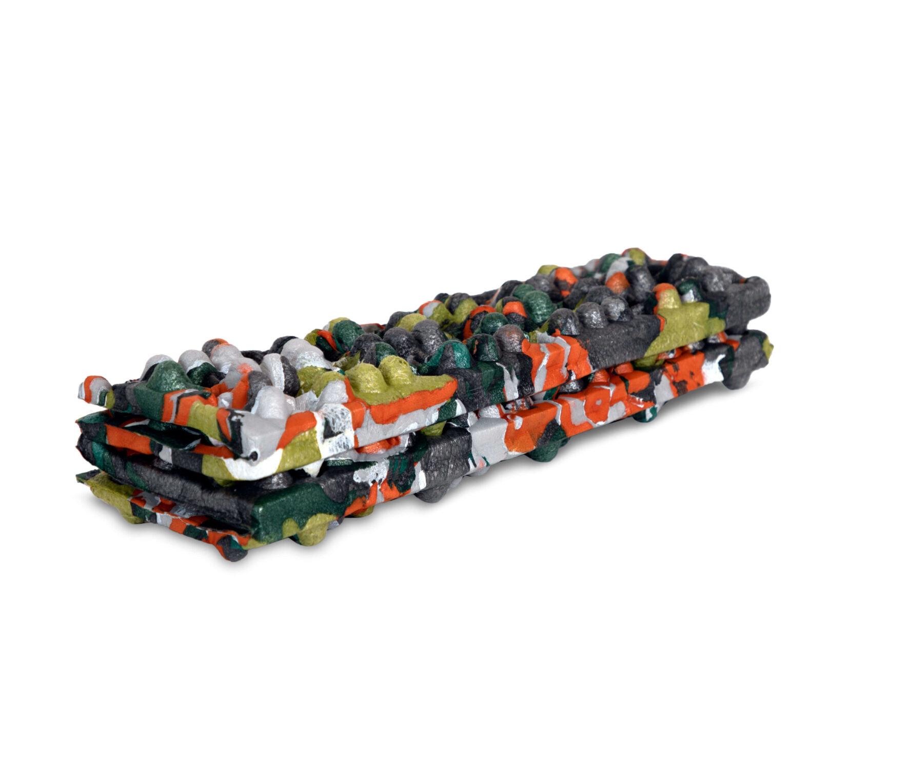 Uniek en duurzaam zitmatje gemaakt van gerecycled restmateriaal van de slaapmatproductie.