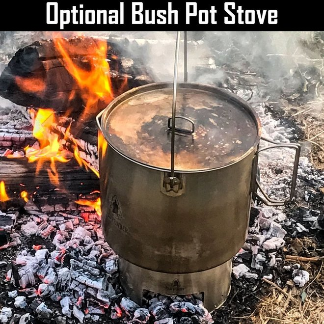 RVS Bushpot met deksel (3.5 L)