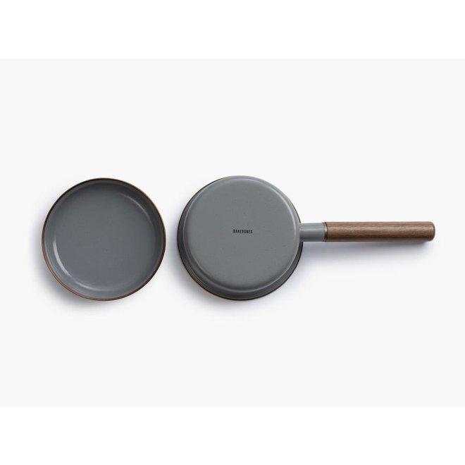 Emaille Saucepan / Steelpan - Stone Grey