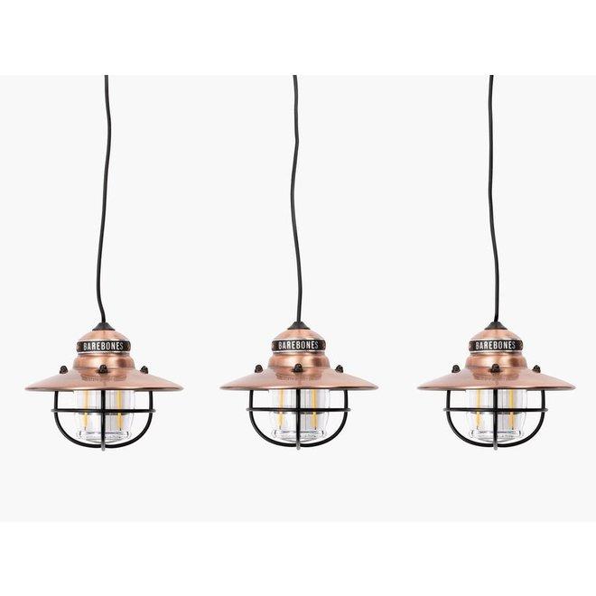 Edison String Lights 3 Pack - Copper