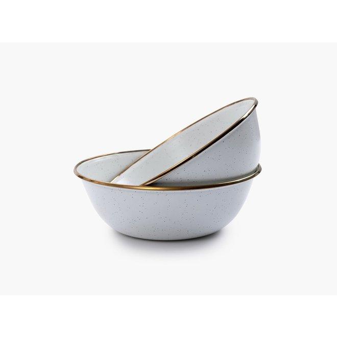 Emaille Bowl / Kommen - 2 stuks -  Egg Shell