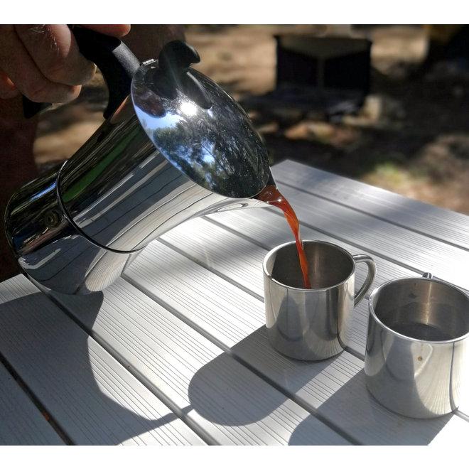 Espresso maker Edelstaal 2 kops