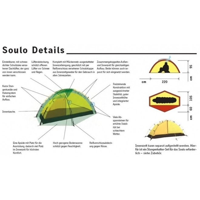 Soulo - 1 pers. tent - green