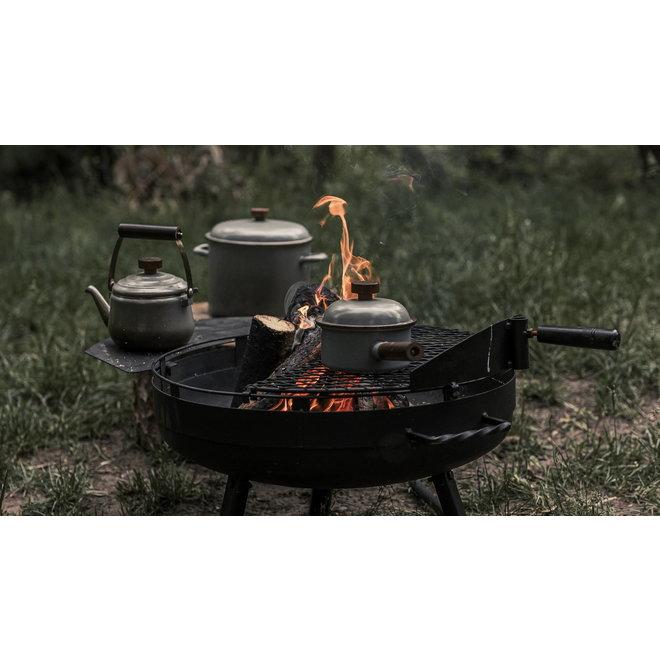 Emaille Stock Pot / Soeppan - Stone Grey