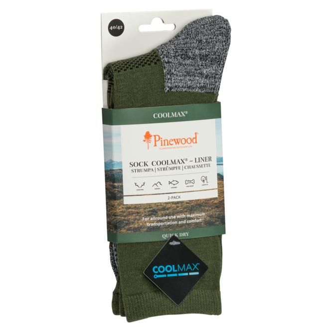 Coolmax Liner Sokken 2-Pack - Green (9210)