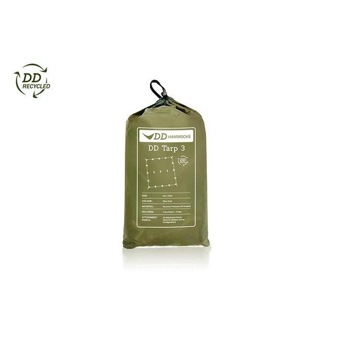 DD Recycled Tarp 3 Olive Drap