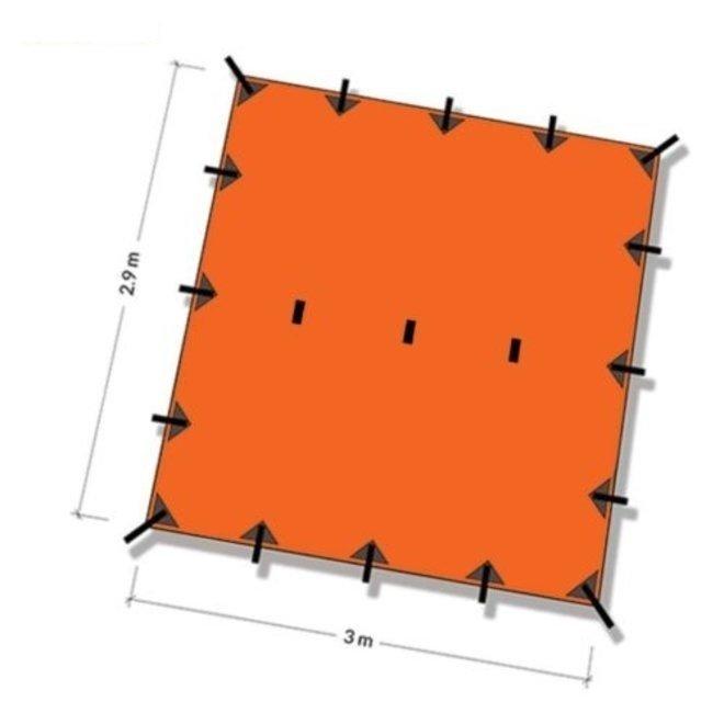 Tarp 3x3 - Sunset Orange