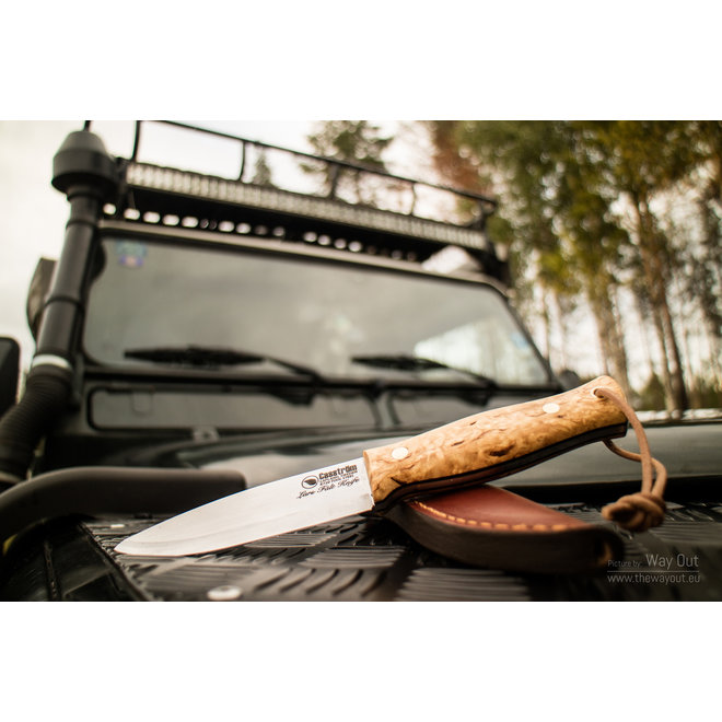 Lars Fält knife, Curly Birch, Carbon steel
