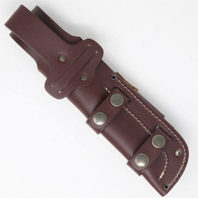 Leather Full Cover Knife Sheath +DC/CC4 & Firesteel Attachment