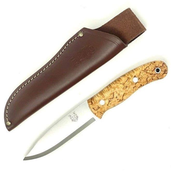 Boar Bushcraft Knife-Curly Birch-Standard Sheath