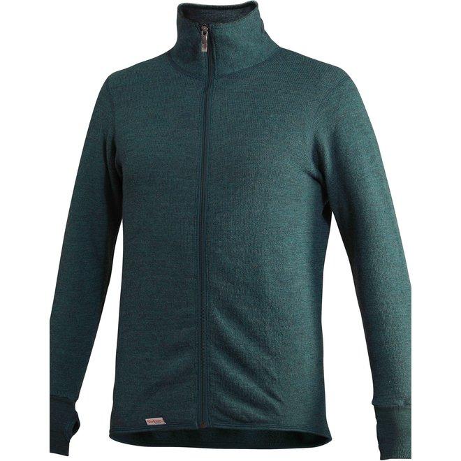 Merino Mid Layer Full Zip Jacket 400 - Forest Green