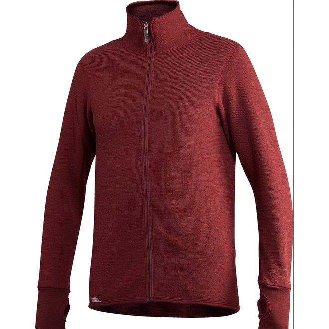 Merino Mid Layer Full Zip Jacket 400 - Rust Red