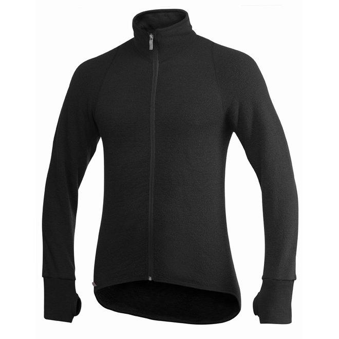 Merino Mid Layer Full Zip Jacket 400 - Black
