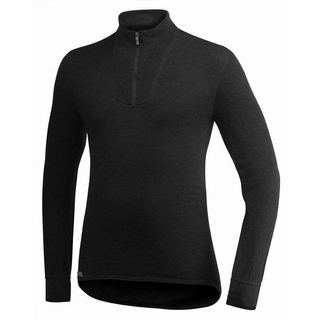 Merino Mid Layer Zip Turtleneck 400 - Black
