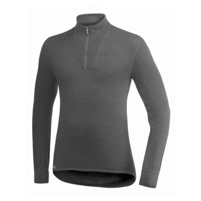 Merino Base Layer Zip Turtleneck 200 - Grey