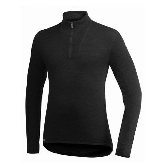 Merino Base Layer Zip Turtleneck 200 -  Black