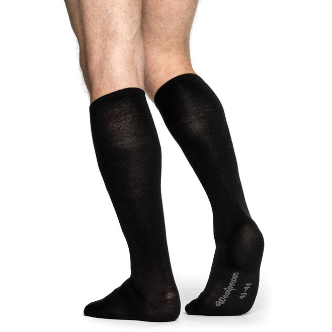 Merino Sokken Liner Knee-high - Black