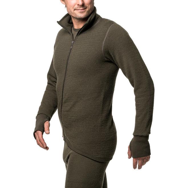 Merino Mid Layer Full Zip Jacket 400 - Pine Green